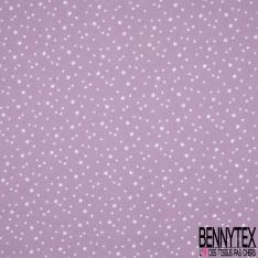 Toile Lorraine 100% coton Impression Motif étoiles Fond mauve