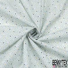 Toile Lorraine 100% coton Impression Motif pois ton vert
