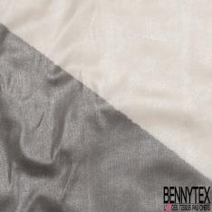 Mousseline de soie Pêche paillette Silver
