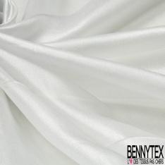 Mousseline de soie Ivoire paillette Silver
