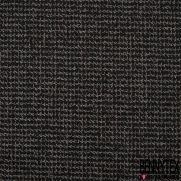 Laine Tressée noir taupe et gris souris