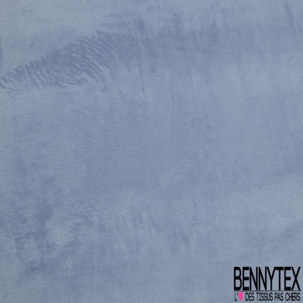 Molleton Doudou double face Coloris Jeans effet chiné