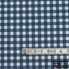 Coton imprimé Digital Motif vichy bleu