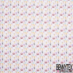 Toile Lorraine 100% coton Impression Motif cirque Fond blanc