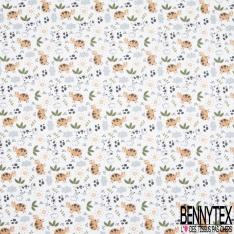 Toile Lorraine 100% coton Impression Motif vache Fond blanc