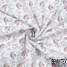 Toile Lorraine 100% coton Impression Motif licorne s'amusant Fond blanc