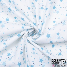 Coton imprimé Digital Thème Myriade de Petits Coeurs Multicolores Pastel fond Blanc Cassé