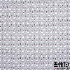 Coton imprimé Digital Thème Mini Fantôme tirant la langue fond Gris
