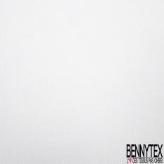Maille Côtelée 1x1 Billom de Laine Unie Blanc Cassé