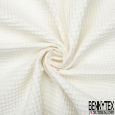Coton Nid d'Abeille Blanc Optique