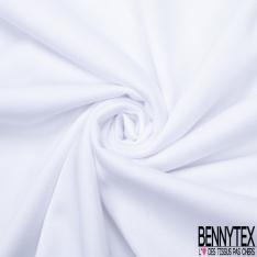 Molleton Gratté Double Face Uni Blanc Optique