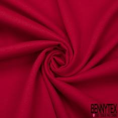 Molleton Gratté Double Face Uni Rouge Passion