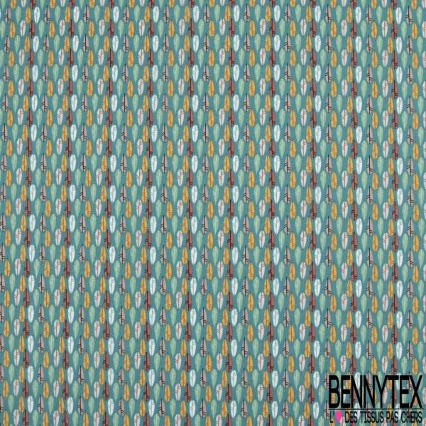 Coton imprimé Triangle Fantaisie Multicolore fond Bordeaux