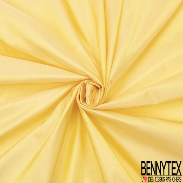 Taffetas de Soie sauvage Couleur Jaune Pastel