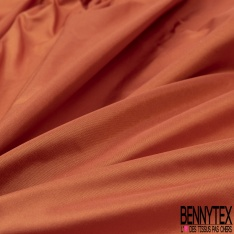 Taffetas de Soie sauvage Couleur Orange Brûlé