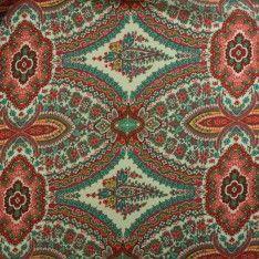 Satin Polyester Imprimé Cachemire Multicolor