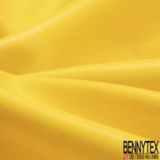 Simili Cuir Elasthanne matte Couleur jaune soleil