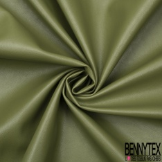Simili Cuir Elasthanne matte Couleur vert ortie