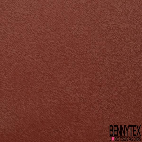 Simili Cuir Elasthanne matte Couleur terracotta
