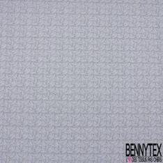 Coton Crétonne imprimé Motif cactus fantaisie Fond blanc