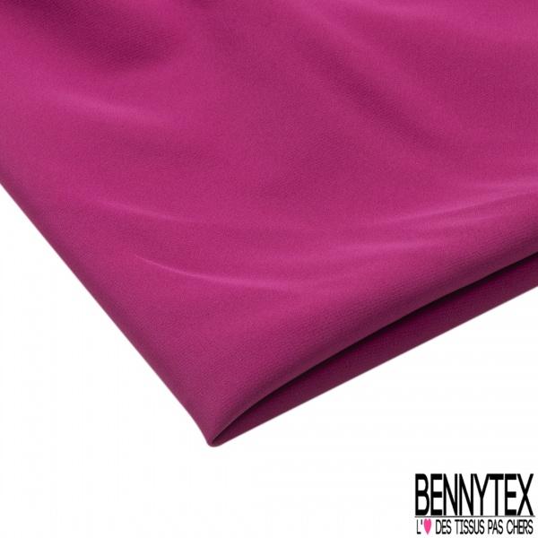 Coupon 3m Crêpe Polyester Elasthanne Uni Framboise