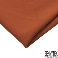 Coupon 3m Crêpe Polyester Elasthanne Uni Roux