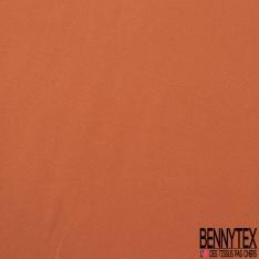 Coupon 3m Crêpe Polyester Elasthanne Uni Orange Brulé