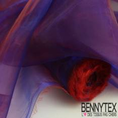 Organza Couleur Bleu Rouge