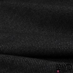Jersey Milano Couleur Noir Chiné