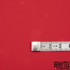 Fibranne Viscose Imprimé Motif tête de mort effet satiné Fond rouge vif