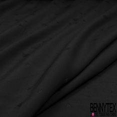Fibranne Viscose Imprimé Motif tête de mort effet satiné Fond noir