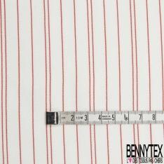 Fibranne Viscose Imprimé Motif rayure horizontale noir et ivoire