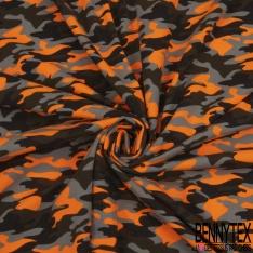 Jersey Coton Elasthanne Imprimé Treillis Rose Fluo Gris Noir Violine