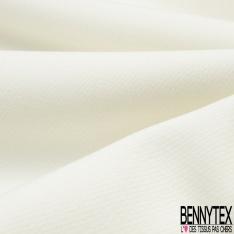 Crêpe Polyester Elasthanne Tailleur Uni Blanc Cassé