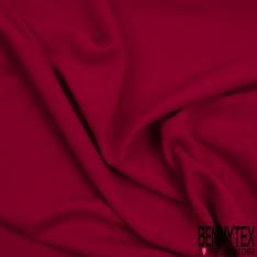 Crêpe Polyester Elasthanne Tailleur Uni Framboise