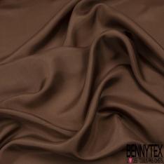 Pongé de Soie Uni Chocolat