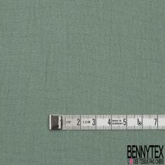 Coton Double Gaze Uni Vert Amande