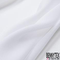 Crêpe Georgette Soie Blanc Optique