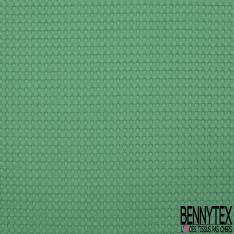 Coton Nid d'Abeille Piqué Bubble Gaufré XL Menthe