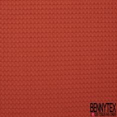 Coton Nid d'Abeille Piqué Bubble Gaufré XL Orange Sanguine