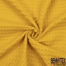 Coton Nid d'Abeille Piqué Bubble Gaufré XL Moutarde