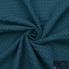 Coton Nid d'Abeille Piqué Bubble Gaufré XL Vert Impérial