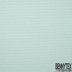 Coton Nid d'Abeille Piqué Bubble Gaufré XL Bleu Givré