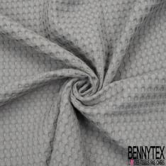 Coton Nid d'Abeille Piqué Bubble Gaufré XL Gris Souris