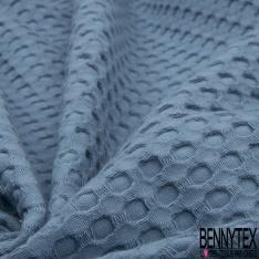 Coton Nid d'Abeille Piqué Bubble Gaufré XL Indigo