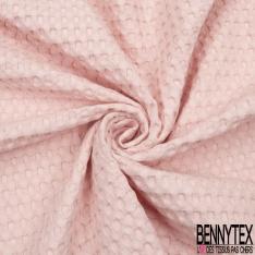 Coton Nid d'Abeille Piqué Bubble Gaufré XL Rose Layette