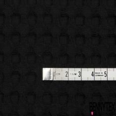 Coton Nid d'Abeille Piqué Bubble Gaufré XL Noir