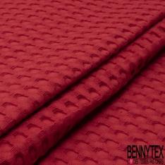 Coton Nid d'Abeille Piqué Bubble Gaufré XL Rouge