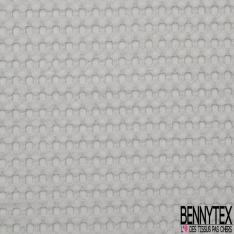Coton Nid d'Abeille Piqué Bubble Gaufré XL Gris Perle