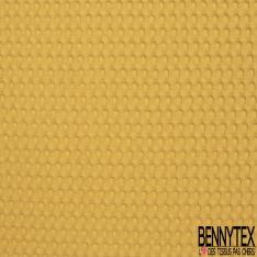 Coton Nid d'Abeille Piqué Bubble Gaufré XL Bouton d'Or
